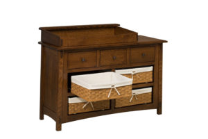 """OLD TOWN OAK - McCoy 7 Drawer Dresser w/ Box Top and Baskets - Dimensions: Dresser only size: 54""""w x 35""""h x 21.5""""d, Dresser w/ box top: 54""""w x 41""""h x 21.5""""d"""