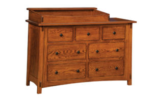 "OLD TOWN OAK - McCoy 7 Drawer Dresser w/ Box Top - Dimensions: Dresser only size: 54""w x 35""h x 21.5""d, Dresser w/ box top: 54""w x 41""h x 21.5""d"