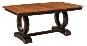 WEST POINT - Saratoga Trestle Table - Dimensions (in inches): 42x72 or 48x72 with up to 4 leaves - Custom finish options available, please see store for details.