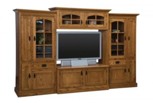 SCHWARTZ - Mission SC-54 Wall Unit w/16 CD Pullouts - Dimensions: 118w x 24.75d x 84.25h.