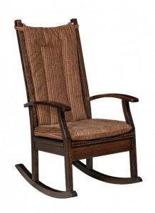 D & E - Aspen Rocker: 46h x 31d x 25w, Seat size:18d x 20w, Floor to wood seat top: 16, Floor to fabric or leather seat top: 17, Available in wood seat, fabric or leather seat, or hook on cushions.