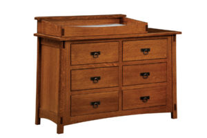 "OLD TOWN OAK - McCoy 6 Drawer Dresser w/ Box Top - Dimensions: Dresser only size: 54""w x 35""h x 20.5""d, Dresser w/ box top: 54""w x 41""h x 20.5""d"
