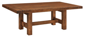WEST POINT - Wellington Trestle Table - Dimensions (in inches): 42x88 or 48x88 with up to two 16 inch leaves - Custom finish options available, please see store for details.