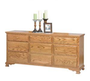 SCHWARTZ - Heritage Dresser - Dimensions: 9 drawers, 72w x 20d x 33.5h