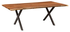 WEST POINT - Xavier Trestle Table - Dimensions (in inches): 42x72, 42x84, 42x96, 48x72, 48x84, and 48x96 inches, Solid Top Only - Custom finish options available, please see store for details.