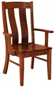 F & N - Laurie Arm Chair - Dimensions (in inches): 24.5w x 17.5d x 39h - Other available styles include side chair, swivel bar stool, stationary bar stool, and desk chair.