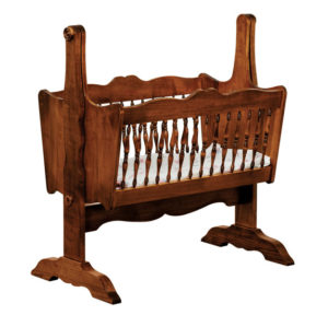 "OLD TOWN OAK - Classic Baby Cradle - Dimensions: 38""w x 41""h x 22""d"