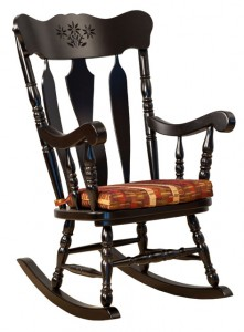 D & E - Heartland Rocker: 44h x 18d x 23w, Seat size:17d x 19w, Available in wood seat, or with hook on cushions.