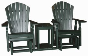 CREEKSIDE - Classic Personal Glider Settee - (C120) - Size: 22 inches (chairs), 76 inches wide (unit).