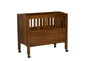 "OLD TOWN OAK - Solo Bassinet - Dimensions: 39""w x 35""h x 21""d"