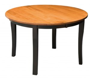 "WEST POINT - Brady Leg Table - Dimensions: 42"" round with up to 2 leaves, or 48"" or 54"" round with up to 4 leaves - Custom finish options available, please see store for details."