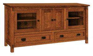 SCHWARTZ - Rio Mission SC-3269 - Dimensions: 69.5w x 18.25d x 32h, One adjustable shelf behind center doors.