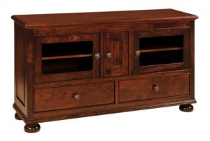 SCHWARTZ - Rosemont SC-60 TV Stand - Dimensions: 60w x 17.75d x 32.5h One shelf behind center door.