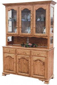 TOWNLINE - Lagrange 3-Door Open Deck Hutch: Dimensions (in inches): 20d x 54w x 80h, or 20d x 60w x 80h - Available with a closed deck - Also available as base-only sideboard - Custom features and finish options available, please see store for details.