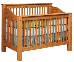 "OLD TOWN OAK - Mission Crib - Dimensions: 56.5""w x 45""h x 31""d"
