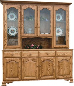 TOWNLINE - Lagrange 4-Door Open and Closed Deck Hutch - Dimensions (in inches): 20d x 72w x 80h, or 20d x 64w x 80h - Also available as base-only sideboard - Custom features and finish options available, please see store for details.