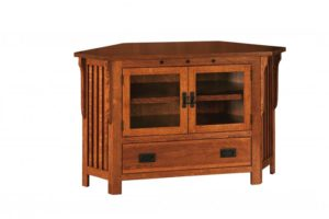 SCHWARTZ - Royal Mission SC-052C-RM TV Stand Corner Unit - Dimensions: 51w x 18.75d x 32h.