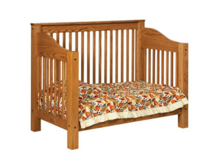 "OLD TOWN OAK - Mission Toddler Bed - Dimensions: 56.5""w x 45""h x 31""d"