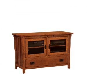 SCHWARTZ - Royal Mission SC-3250-RM TV Stand - Dimensions: 50.5w x 18.25d x 32h, Deep drawer for DVDs and CDs.