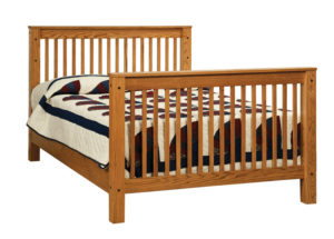 "OLD TOWN OAK - Mission Double Bed - Dimensions: 56.5""w x 45""h"