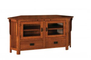 SCHWARTZ - Royal Mission SC-063C-RM TV Stand Corner Unit - Dimensions: 63w x 18.75d x 32h.