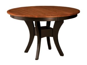 "WEST POINT - Imperial Single Pedestal Table - Dimensions: 42"" or 48"" round with up to 3 leaves, or 54"" round with up to 2 leaves - Custom finish options available, please see store for details."