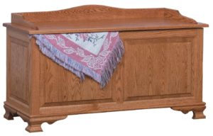 SCHWARTZ - Classic Heritage Blanket Chest - Dimensions: Shown with raised side panels Available w/solid sides and cedar bottom insert, 48w x 20d x 28h