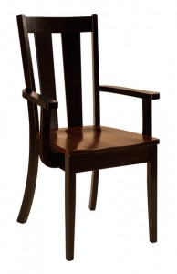 F & N - Newberry Arm Chair - Dimensions (in inches): 24w x 17.5d x 37.5h - Other available styles include side chair, swivel bar stool, stationary bar stool, and desk chair.