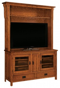 SCHWARTZ - Royal Mission SC-60RMH Hutch - Dimensions: 60w x 11.25d x 47h, TV opening is 51w x 44h w/one adjustable shelf, available on all Royal Mission TV stands.