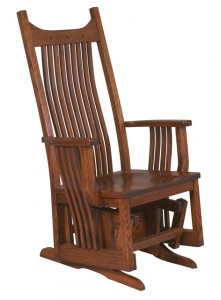D & E - Royal Mission Glider: 48h x 30d x 28w, Seat size:19d x 21w, Available with wood seat or fabric seat.