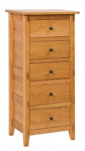 SCHWARTZ - Bungalow Lingerie Chest - Dimensions: 5 drawers, 24.75w x 18d x 52h