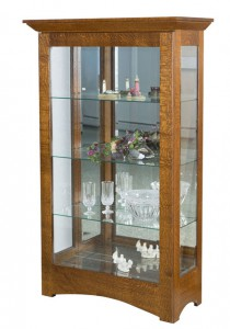 TOWNLINE - Leda Medium Curio - Dimensions (in inches): 17.25d x 36.5w x 64h - Custom features and finish options available, please see store for details.