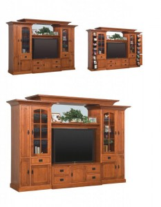 SCHWARTZ - Royal Mission SC-54 Wall Unit w/16 CD Pullouts - Dimensions: 123w x 26.5d x 84.25h.
