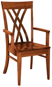 F & N - Oleta Arm Chair - Dimensions (in inches): 22.5w x 17d x 39h - Other available styles include side chair and desk chair.