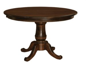 "WEST POINT - Chancellor Single Pedestal - Dimensions: 42"" and 48"" round with up to 3 leaves, or 54"" round with up to 2 leaves - Custom finish options available, please see store for details."