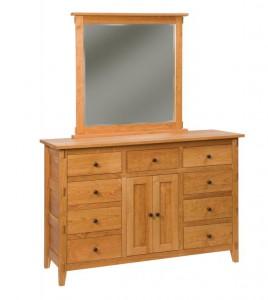 SCHWARTZ - Bungalow Dresser - Dimensions: 9 drawers, 2 doors 63w x 22d x 41h