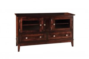 SCHWARTZ - Venice SC-60 Venice TV Stand - Dimensions: 60w x 18d x 34.25h One shelf behind center door.
