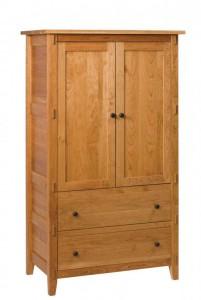 SCHWARTZ - Bungalow Armoire - Dimensions: One piece, 2 drawers, 2 doors 38w x 22d x 67h