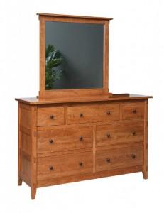 SCHWARTZ - Bungalow Dresser - Dimensions: drawers, 63w x 22d x 41h