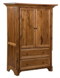 SCHWARTZ - Palisade 1 Piece Armoire - Dimensions: 2 drawers, 2 doors 45w x 24d x 66h