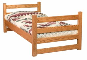 INDIAN TRAIL - Ladder Bunk Single Bed - Dimensions: HB 31 inch, FB 31 inch