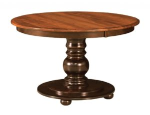 "WEST POINT - Hudson Single Pedestal Table - Dimensions: 42"" or 48"" round with up to three 12"" leaves - Custom finish options available, please see store for details."