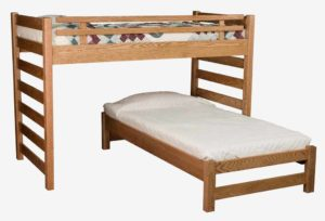 INDIAN TRAIL - Ladder Loft Bed - Dimensions: Bunk 72 inch, Loft 56 inch