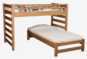 """INDIAN TRAIL - Ladder Loft Bed - Twin Size: 43¾"""" W x 80"""" L x 72"""" H"""