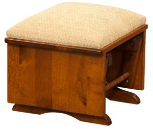 D & E - Artisic Ottoman: 15h x 17d x 19w, Available in other styles.