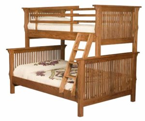 "INDIAN TRAIL - Mission Bunk Bed - Twin/Full Size: 62¼"" W x 81"" L x 68"" H Available in: Twin/Twin or Twin/Full"
