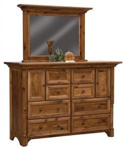 SCHWARTZ - Palisade Dresser - Dimensions: 8 drawers, 2 doors, 66w x 24d x 45.5h, Palisade Mirror: 48.5w x 33h