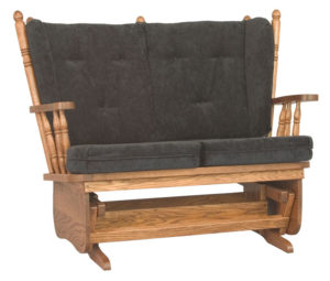 D & E - 4 Post Low Back Love Seat Glider: 41h x 30d x 50w, Also available in high back.