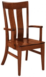 F & N - Sherwood Arm Chair - Dimensions (in inches): 21.5w x 17d x 39h - Other available styles include side chair, swivel bar stool, stationary bar stool, and desk chair.