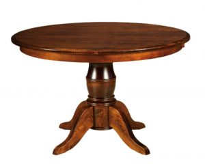 "WEST POINT - Harrison Single Pedestal Table - Dimensions: 42"" or 48"" round with up to 3 leaves, 54"" round with up to 2 leaves, or 42x54 or 42x60 inch oval top with up to 2 leaves - Custom finish options available, please see store for details."